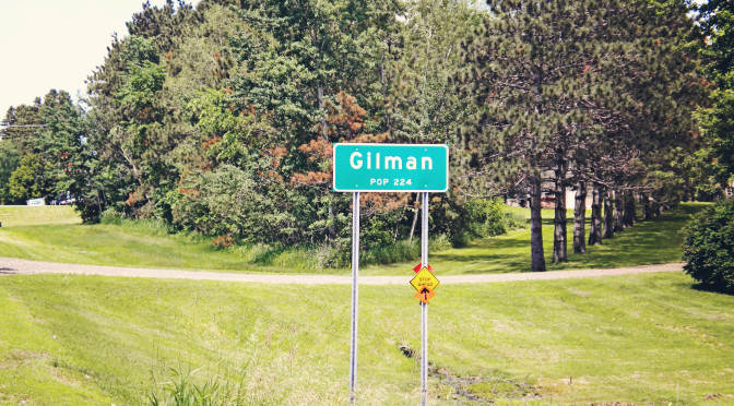 Gilman sign copy